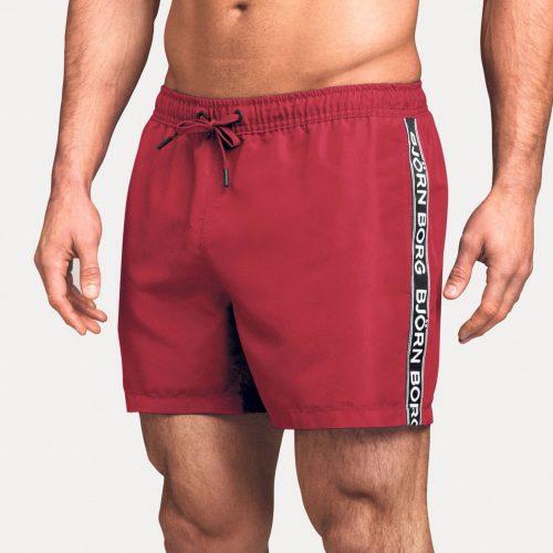 BJORN BORG Mid Shorts Logo True Red