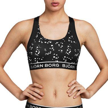Bjorn Borg medium support sport top bb random dot tile